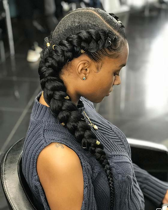 Accessorized Braided Style