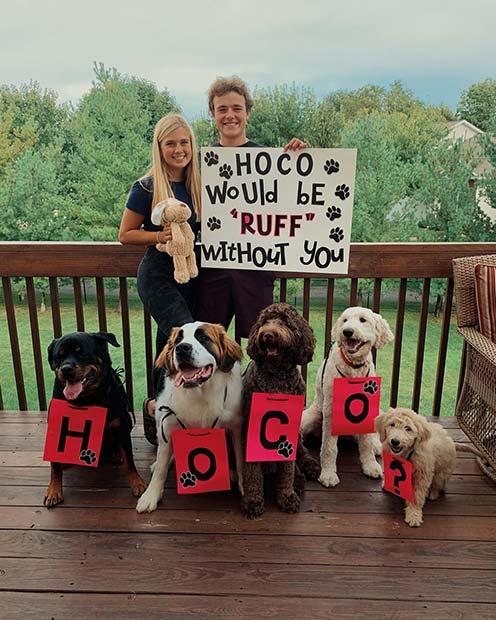 Amazing Dog Prom Proposal