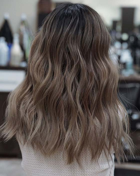 Wavy Ash Brown Hair