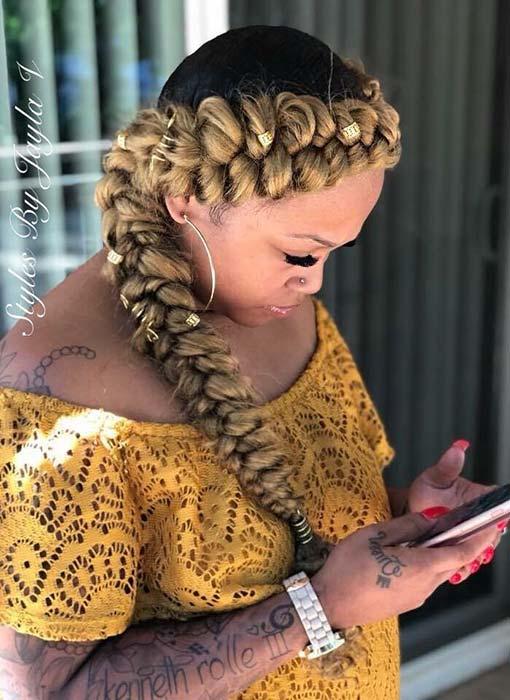 Black and Blonde Braid Idea
