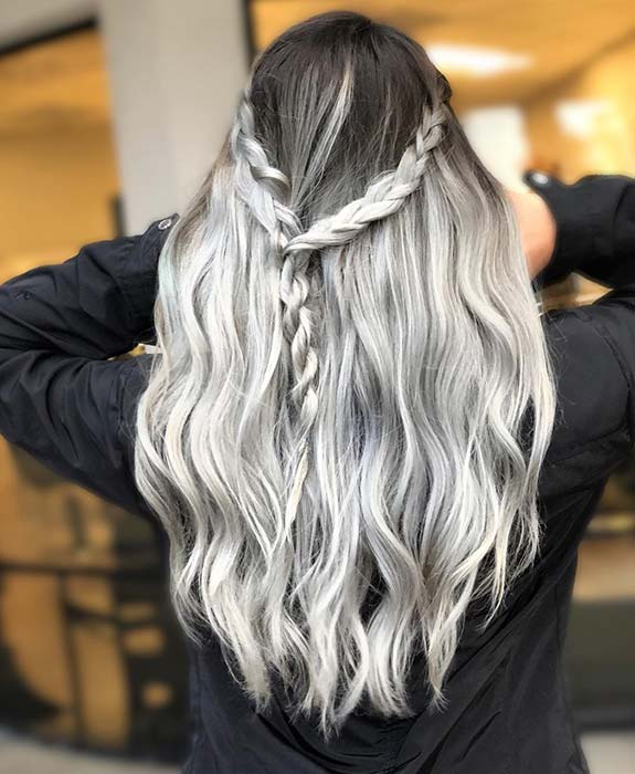Black and Grey Ombre Hair Idea