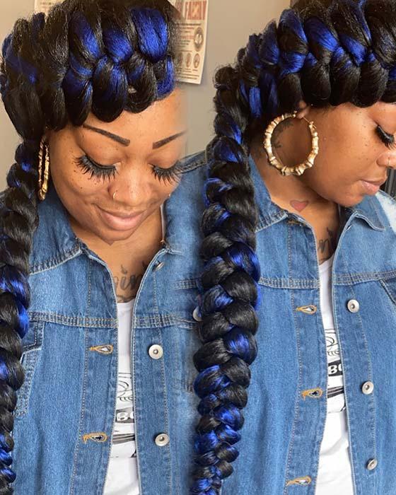 Bold Black and Blue Braids