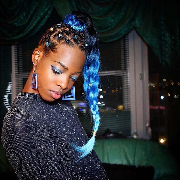Bold Blue Hair Idea