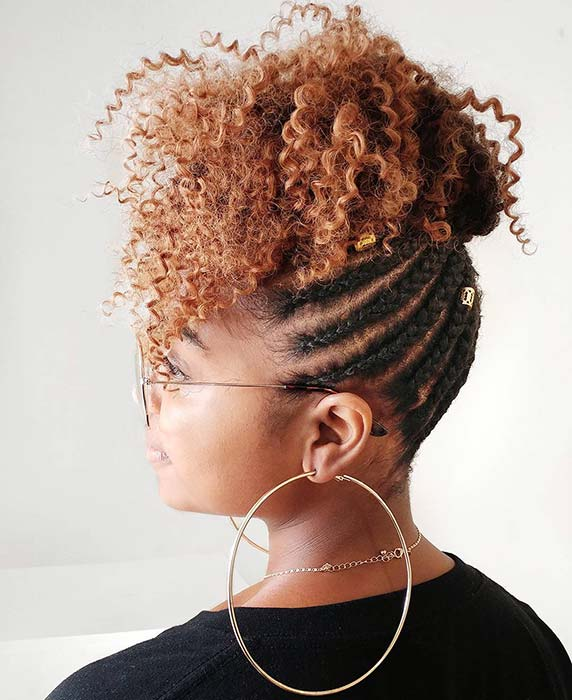 Bold Curls with Braids