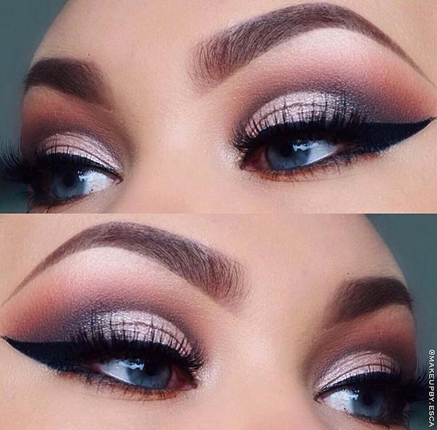Bold Cut Crease Eye Makeup