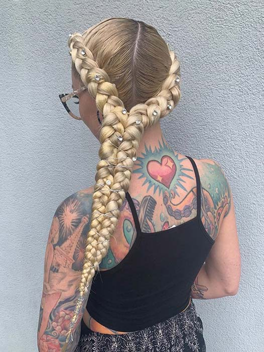 Butterfly Braids with Gems