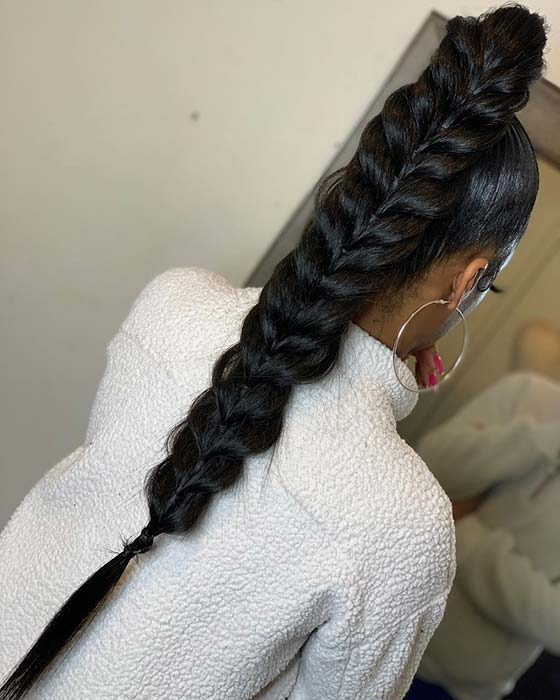 Butterfly Ponytail Idea for Black Hair