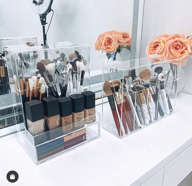 Clear Organizers For Your Makeup