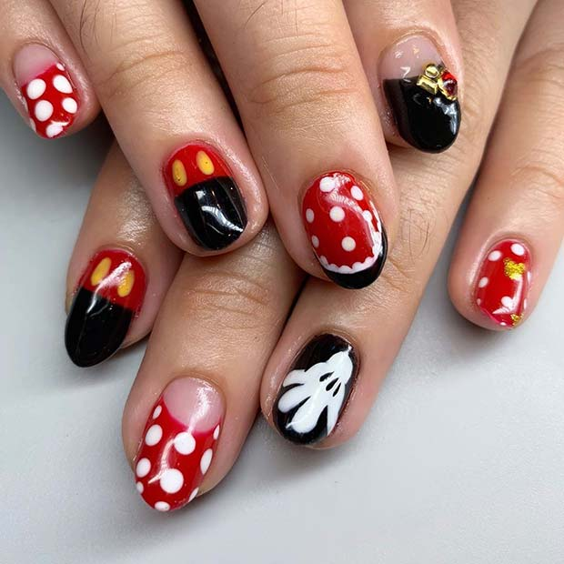 Cute Disney Inspired Nail Design
