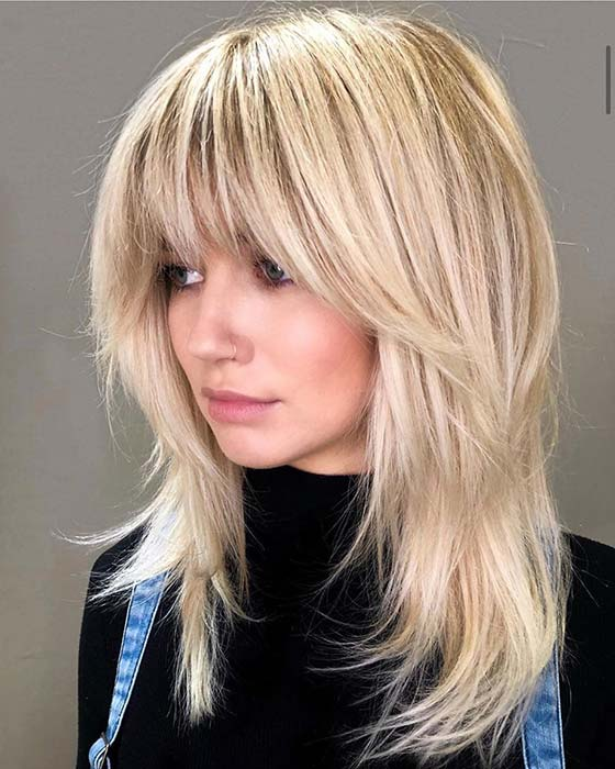 Cute Layered Haircut with Bangs
