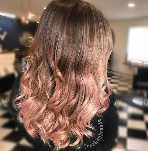 Cute Rose Gold Ombre Hair