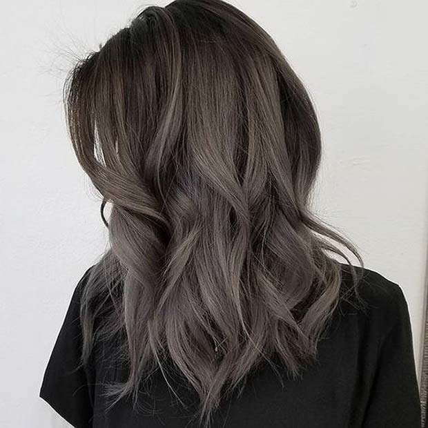 Dark Brown and Ash Ombre Lob