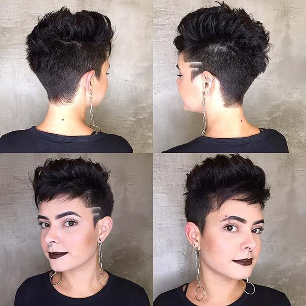 Edgy Short Haircut Idea for Women