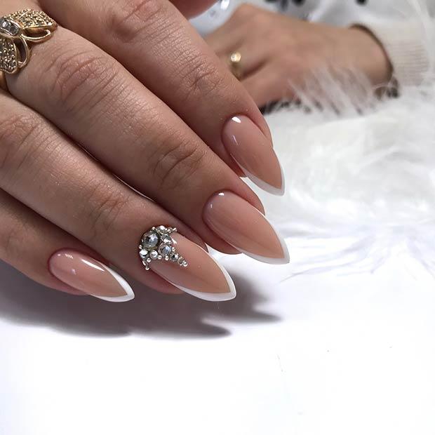 Elegant French Tip Nail Design