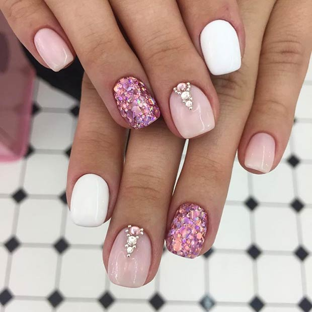 Elegant Short Nail Art Design