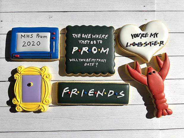 Friends Cookies Prom Invitation