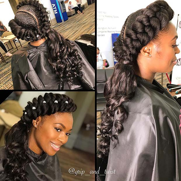 Glam Butterfly Braid with Curls