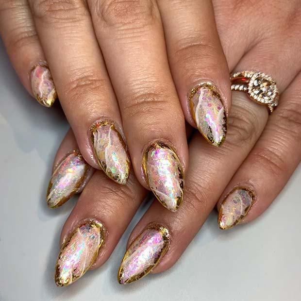 Glam Gold Nails
