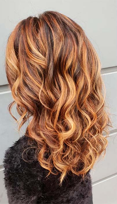 Golden Caramel Hair Idea