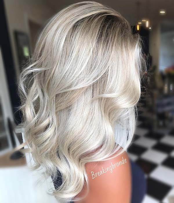Ice Blonde Hair Color Idea