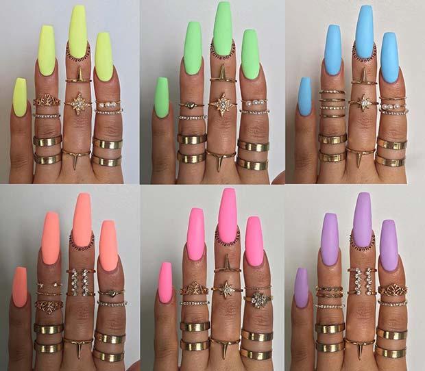 Matte Pastel Nail Colors