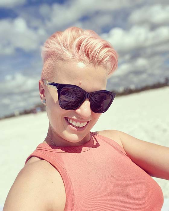 Pastel Pink Pixie Hairstyle