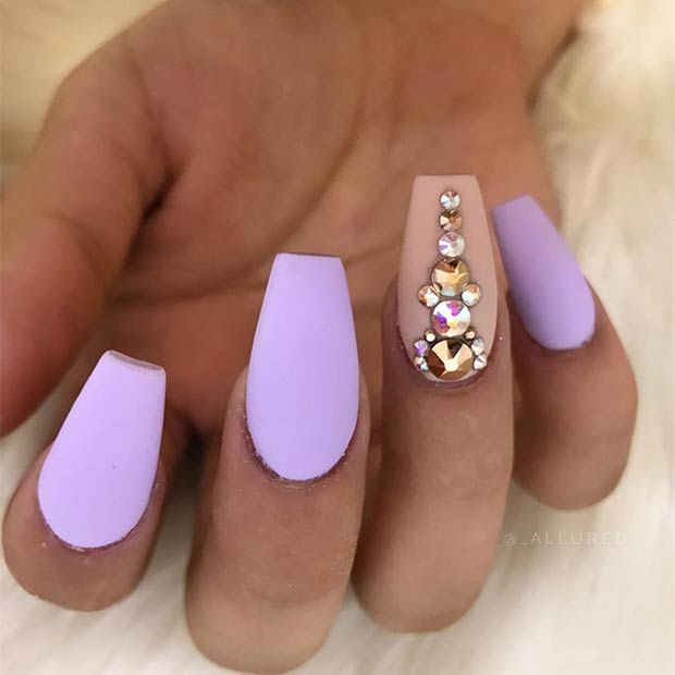 Pastel Purple Matte Nails