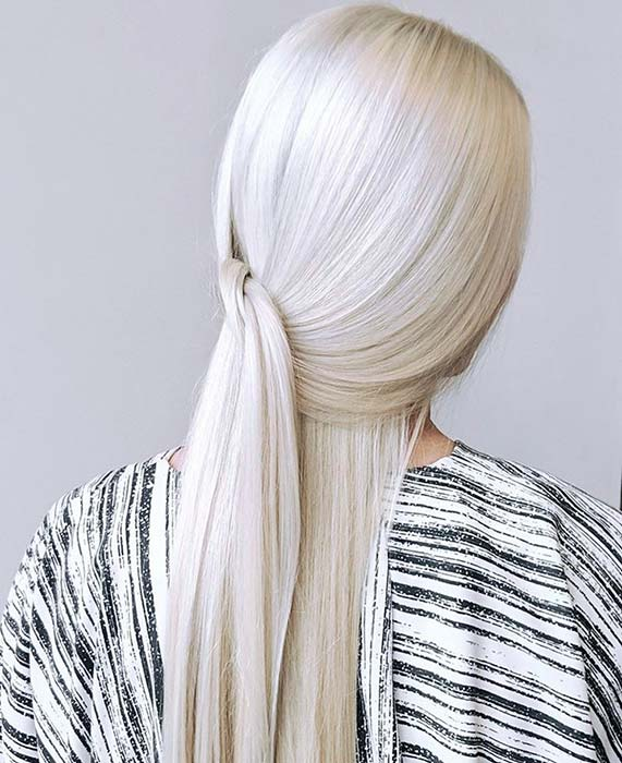 Pretty Platinum Blonde Hair