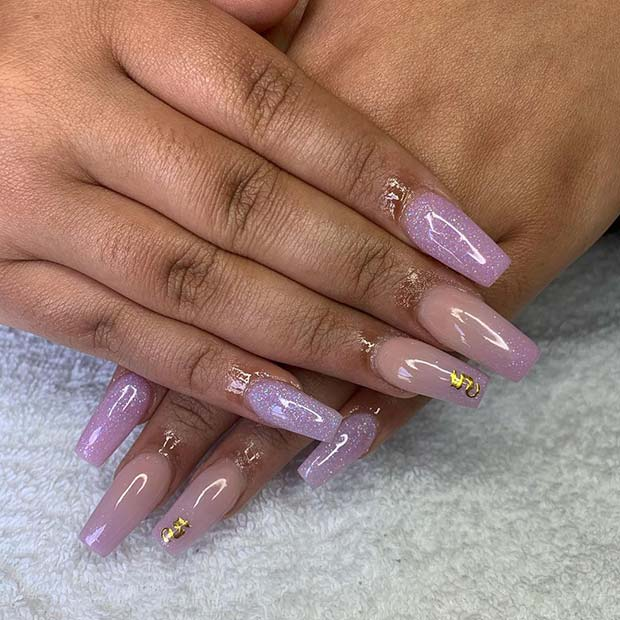 Pretty Purple Nail Idea