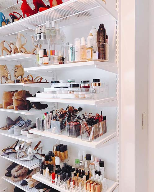 Shelves for Makeup and Shoes