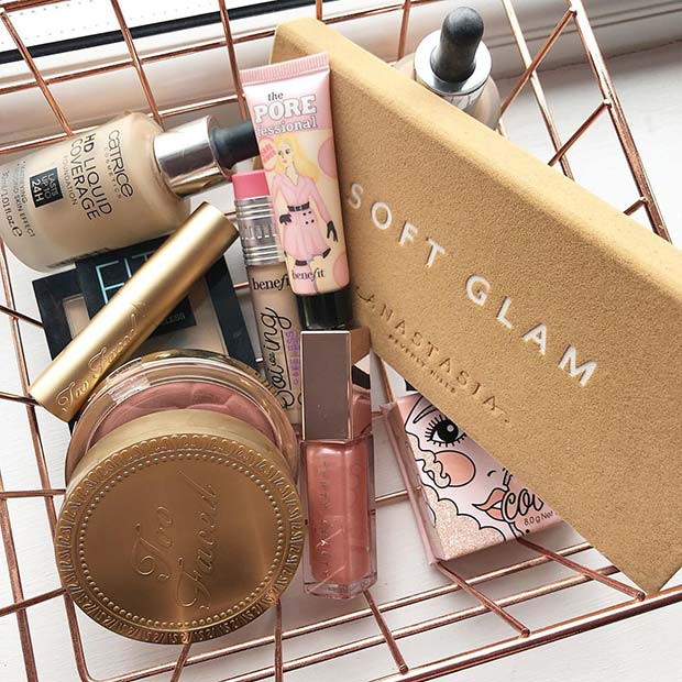Simple And Stylish Makeup Basket