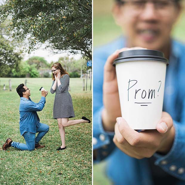 Simple Coffee Prom Proposal