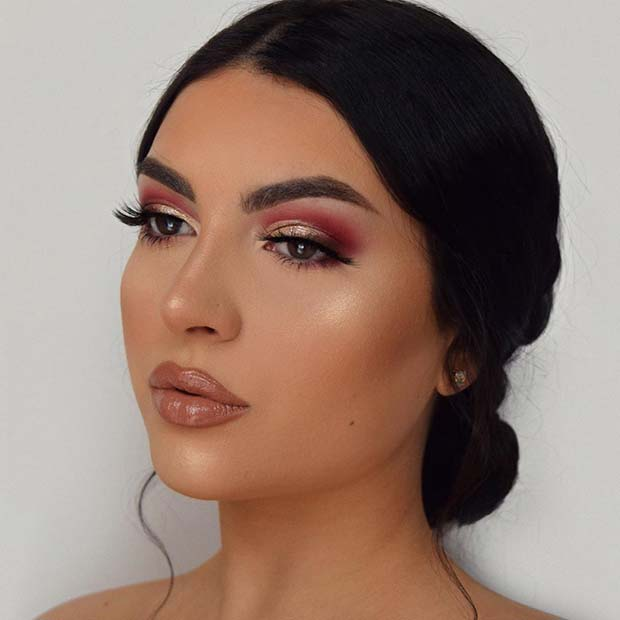 Simple and Glam Makeup for Prom