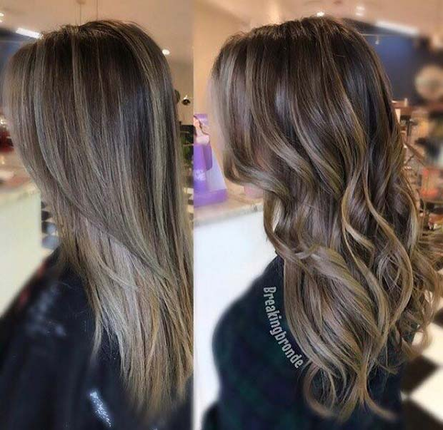 Sleek Or Curly Ash Brown Hair