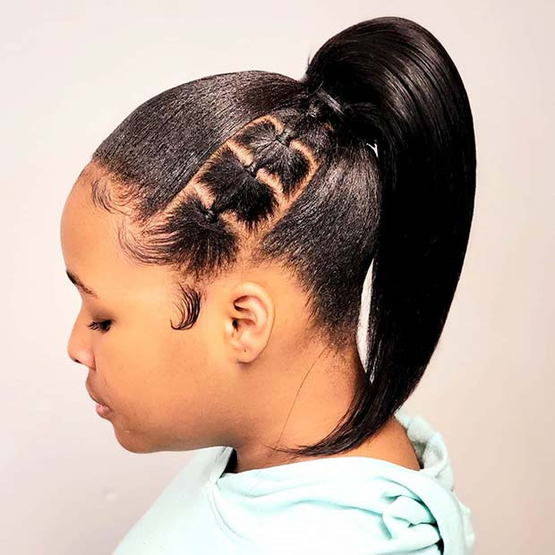 Easy Hairstyle with Rubber Bands