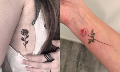 Small Rose Tattoos for Women