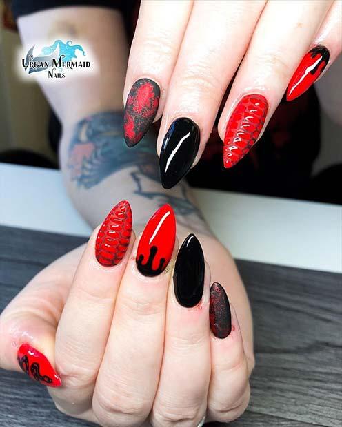 Edgy Snake Skin Nails