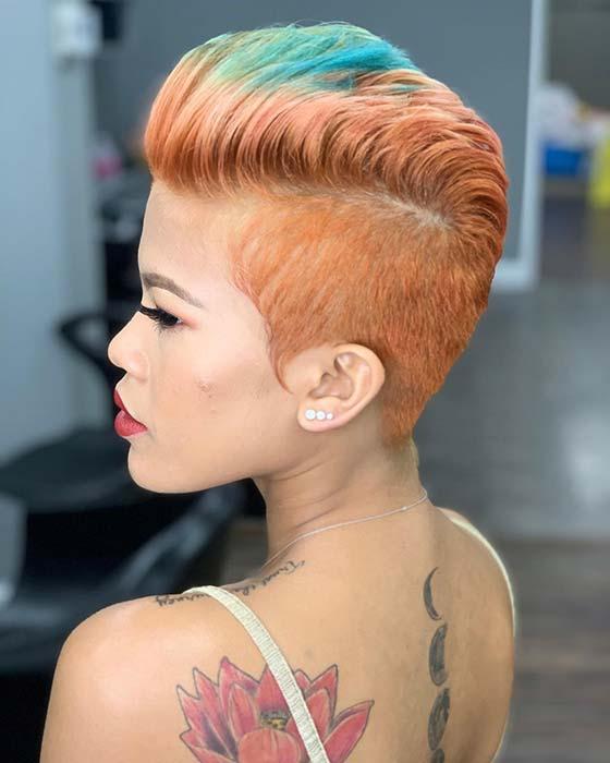 Statement Making Orange and Blue Hair