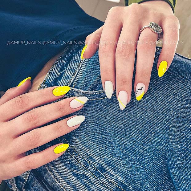 Summery Yellow Mani
