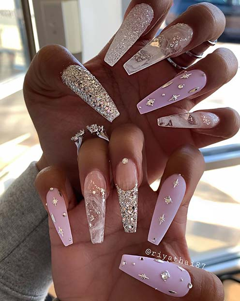 Super Glam Coffin Nails