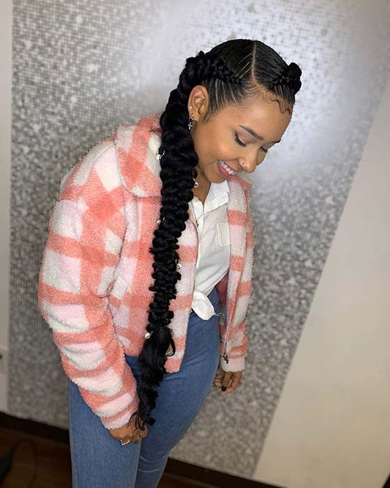 Trendy and Pretty Braided Hairstyle