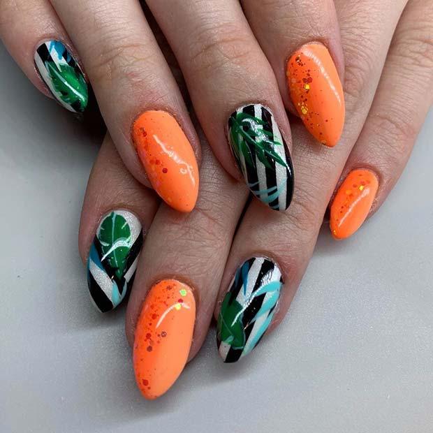 Tropische Nagelkunst
