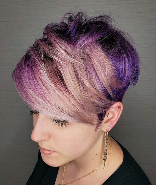 Purple and Pink Short Hair