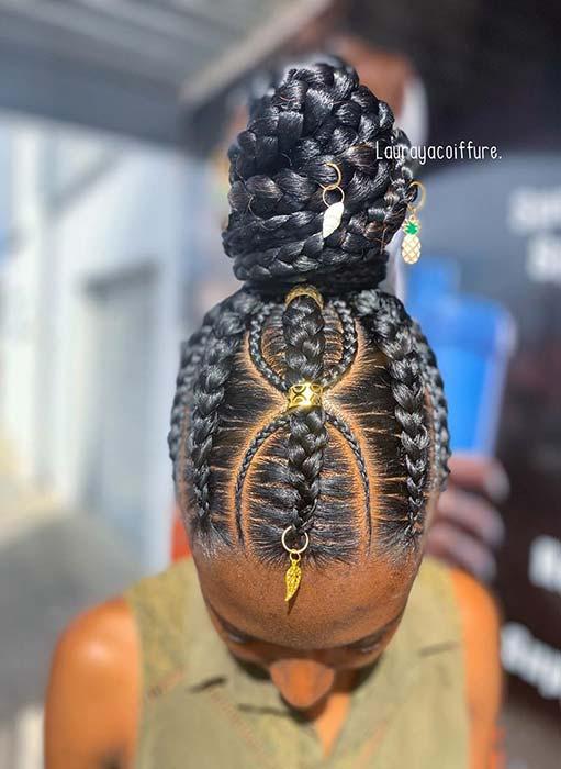 Unique and Accessorized Hair Idea