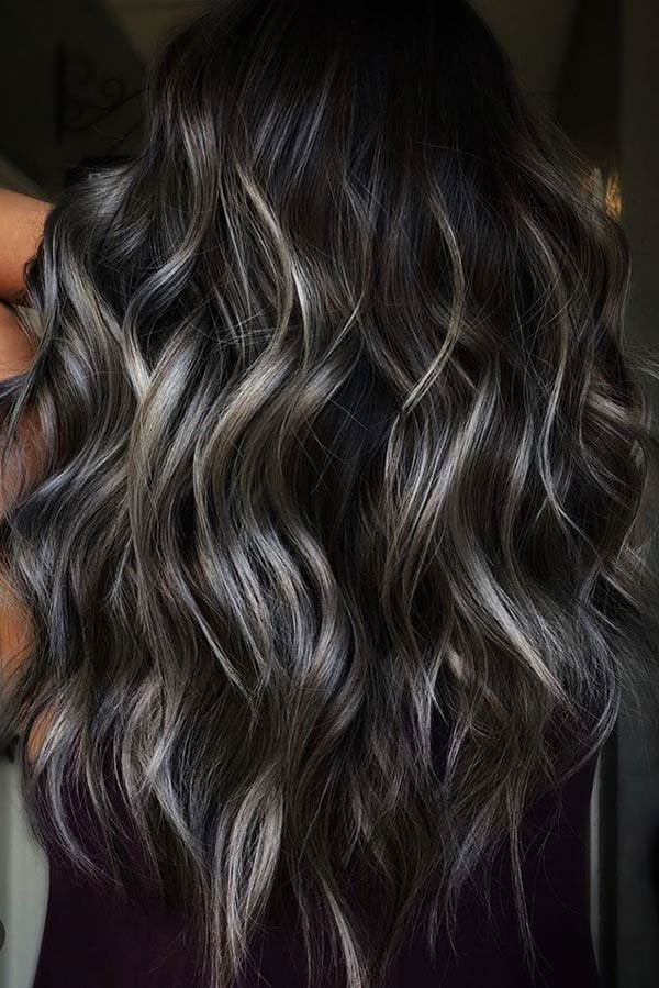 Ash Brown Balayage Highlights