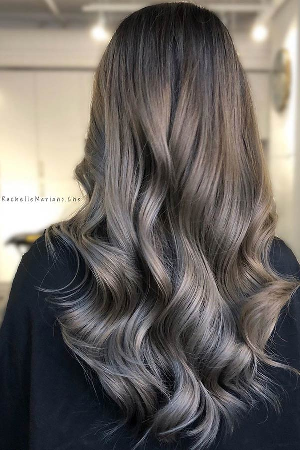 Ash Grey Melt Hair