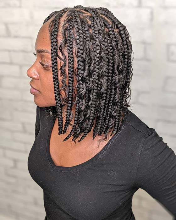 Bob Braids with Curls
