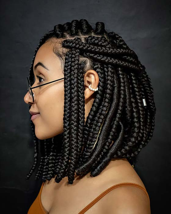 23 Unique Bob Box Braids To Try Yourself Stayglam