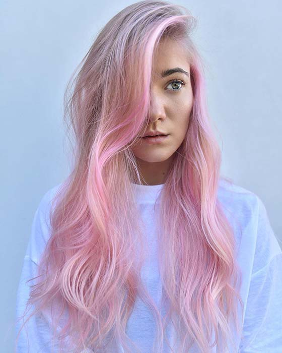 Cotton Candy Pink Hair Color Idea