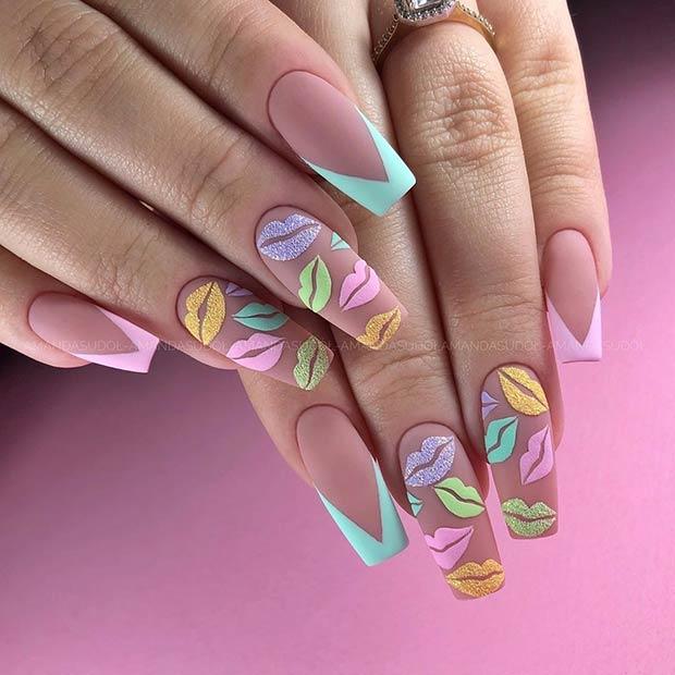 Cute Pastel Nail Design